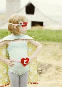 Girl as super hero