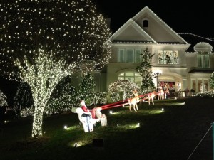 Coury house Christmas lights